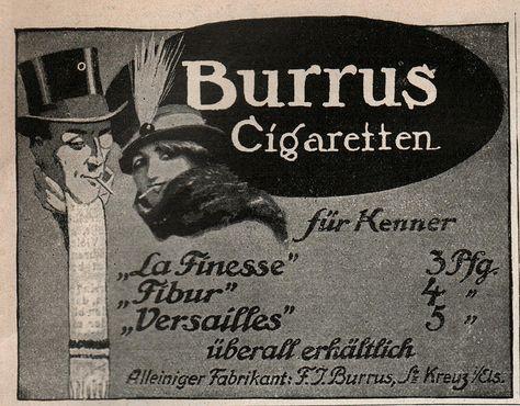 Lustige blatter 18-3-1914  adv Burrus cigaretten a #cigarettes #print #ad