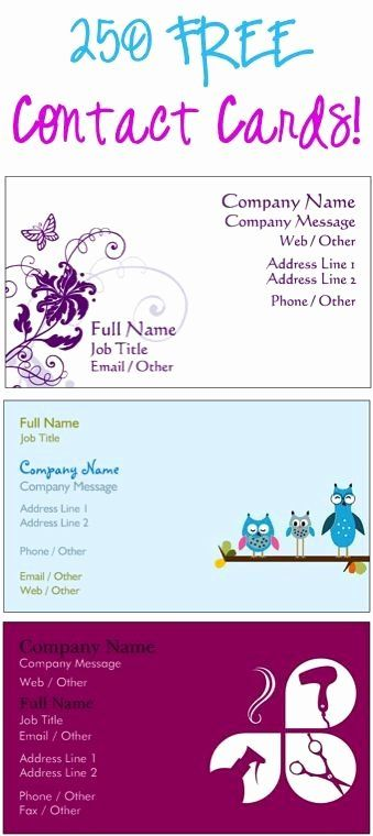 Free Avon Gift Certificate Template Elegant 250 Free Contact Cards Or Business Cards Just Pay S Contact Card Free Printable Business Cards Free Business Cards
