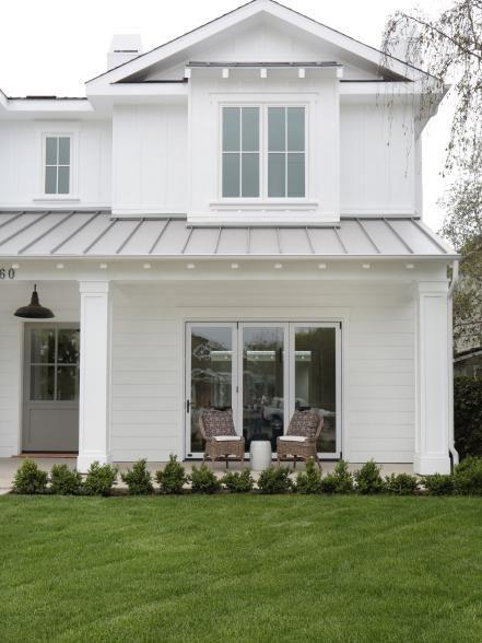 White Modern Day Farmhouse