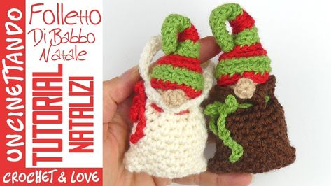 🎅🏼 Babbo Natale all'uncinetto amigurumi 🎁parte II 🎁🎄Natale ... | 266x473