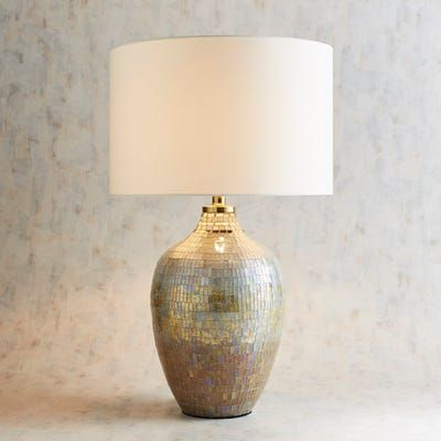 At 28 Inches Tall Our Gilded Aster Table Lamp Is A Statement Piece For Any Living Area Handcrafted Of Carefully Graded Glass Mo Lamp Table Lamp Bedroom Lamps
