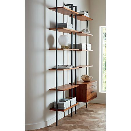 Helix Large Wall Mounted Bookcase Reviews Cb2 Home Office Design Home Decor Home Office Decor