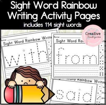 Sight Word Rainbow Writing Worksheets For Kindergarten Rainbow Writing Winter Math Activities Kindergarten Activities