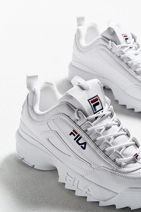 taille 40 97c45 11a3b FILA - Baskets blanches Disruptor Core femme | Filas en 2019 ...