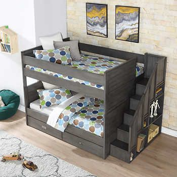 Dylan Double Over Double Bunk Bed Bunk Beds With Stairs Bunk Beds Double Bunk Beds