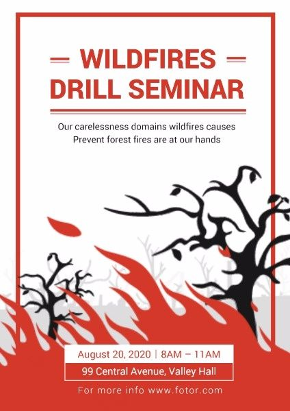 How To Design A Prevent Forest Fire Poster Click Here Forest