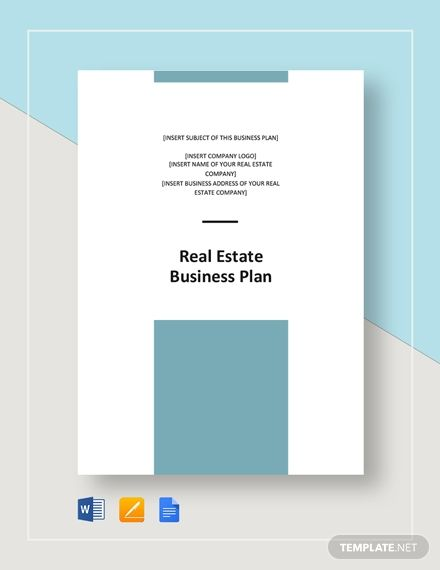 Real Estate Business Plan Template Word Doc Google Docs Apple Mac Apple Mac Pages In 2020 Business Plan Template Word Business Plan Template Business Planning