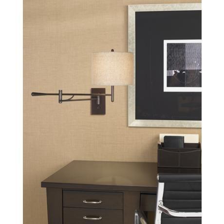 possini bronze boom plugin swing arm wall lamp home decordesign elements pinterest swing arm wall lamps and design