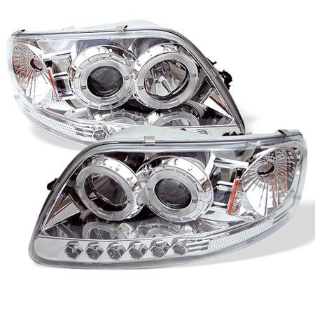 Spyder Ford F150 97 03 Expedition 97 02 1pc Projector Headlights Will Not Fit Manufacture Date Before 6 1997 Led Halo Amber Reflector L Silver Projector Headlights Led Projector Led Headlights