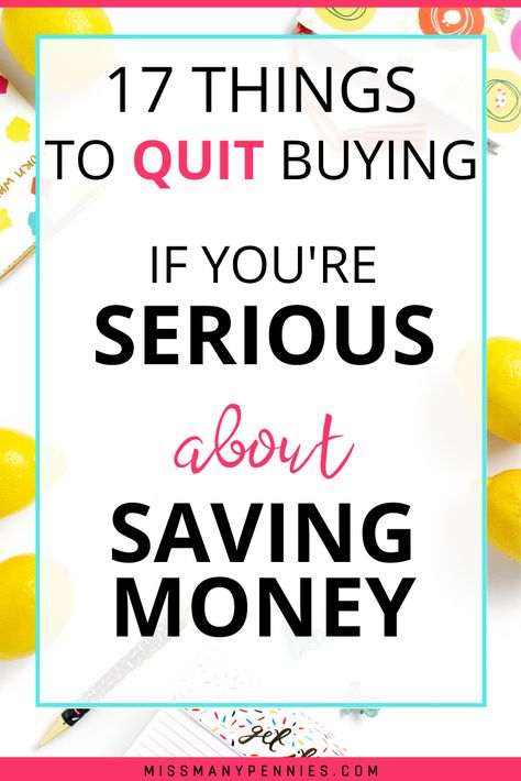 17 simple things you could cut from your budget to save money and give your finances a boost. Budgeting for not spending on these things is a great way of saving money, and developing frugal habits your bank balance will love. Living On A Budget, Frugal Living Tips, Frugal Tips, Life On A Budget, Debt Free Living, Frugal Family, Simple Living, Best Money Saving Tips, Ways To Save Money