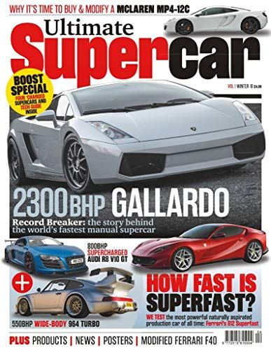 Ultimate Supercars Super Cars Magazine Toy Car