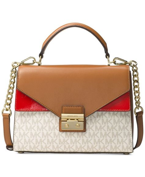 f136a3c8b562 MICHAEL Michael Kors Signature Sloan 3 Tones Top Handle Leather Satchel Was  $359 #fashion #clothing #shoes #accessories #womensbagshandbags (ebay link)