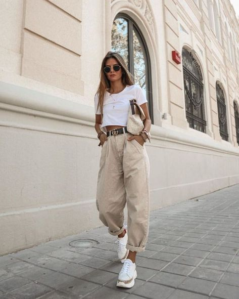 Как носитьslouchy джинсы – модную новинку 2020 - tochka.net