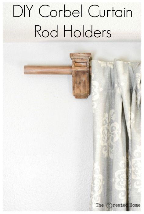 Diy Corbel Curtain Rod Holders Curtain Rod Holders Curtain Rods Corbels