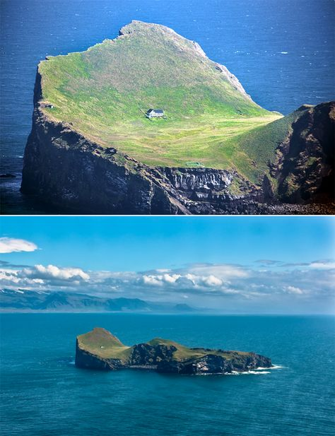 "This house is located on an island called Elliðaey, a small archipelago off the south coast of Iceland. The house was given to singer, Bjork from her motherland as a ""Thank You"" for putting Iceland on the international map."