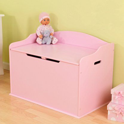 Kidkraft The Austin Toy Box Pink Toy Box Wooden Toy Boxes Toy