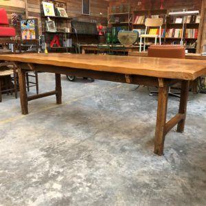 Ancienne Table De Ferme Plateau Orme Massif Table De Ferme Table Massif