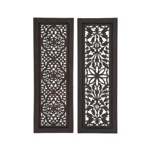 Litton Lane 36 In X 12 In Traditional Decorative Wooden Wall Panel 2 Pack 34128 The H Wooden Wall Panels Wood Panel Wall Decor Wood Panel Walls