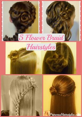 Flower Girl Hairstyles 5 Braided Rose Hairstyles Part 2 Hair Styles Flower Girl Hairstyles Curly Hair Styles Naturally