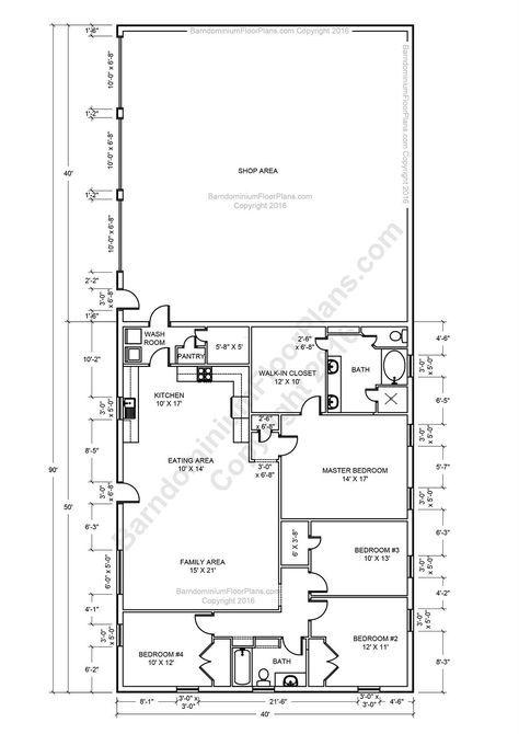 House Plans With Loft Open Concept Bath 67 Ideas In 2020 Metal House Plans Barndominium Floor Plans Shop House Plans