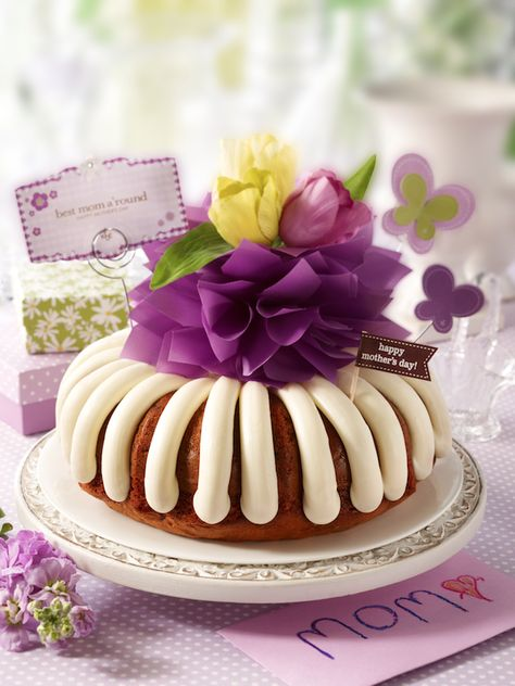 """One of the sweetest ways to tell her she's the """"Best Mom A'Round!""""   Nothing Bundt Cakes"""
