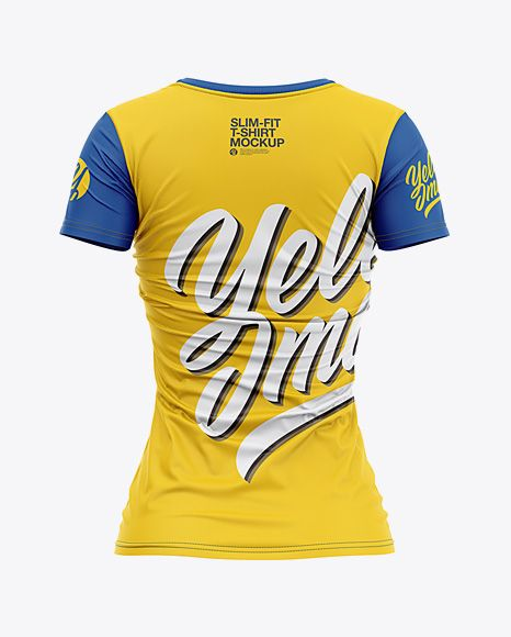 Download Women S Slim Fit V Neck T Shirt Mockup Back View In Apparel Mockups On Yellow Images Object Mockups Shirt Mockup Tshirt Mockup Clothing Mockup
