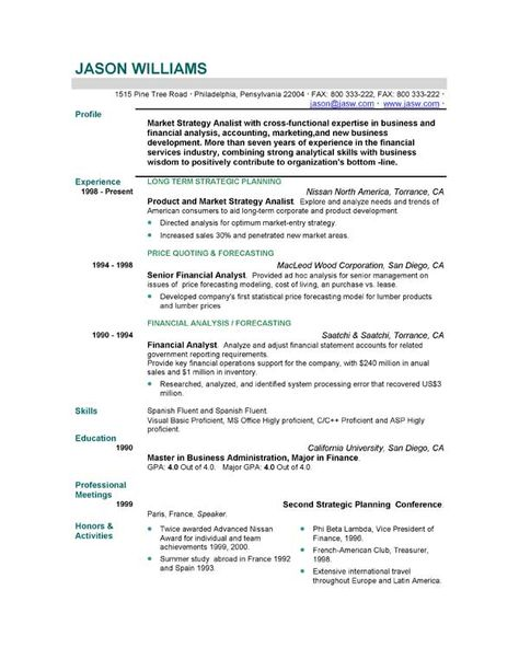 Resume Free Sample Resumes Easyjob Templates More Primer  Home