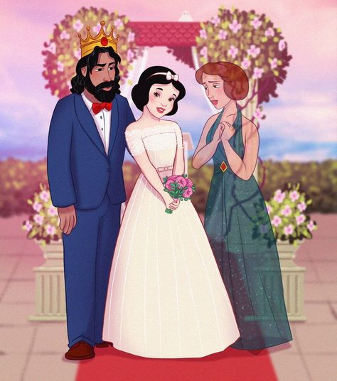 An Artist Imagines Disney Parents Sharing Their Daughters' Big Days