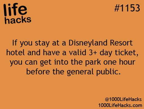 Disney Trip Tip: Extra Magic Hour — Early Admission to the Parks Disneyland Resort Hotel Guests can enjoy early admission, during every day of their hotel stay, to select attractions in either Disneyland Park or Disney California Adventure Park one hour before the park opens to the public.
