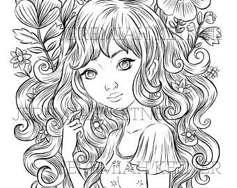 Morning Light Digital Coloring Page Etsy Coloring Pages Cute Coloring Pages Disney Coloring Pages