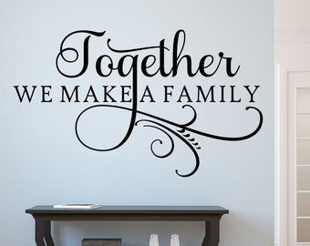 Family Is Everything Vinyl Lettering Art Decal Wall Sticker Etsy Vinyl Wall Lettering Family Wall Decals Custom Wall Decal