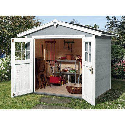 Obi Holz Gartenhaus Monza B Grau Weiss Bxt 205 Cm X 209 Cm Kaufen Bei Obi Gartenhaus Weiss Gartenhaus Haus