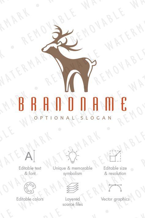 White Tail Deer Logo Template Design Pinterest White Tailed