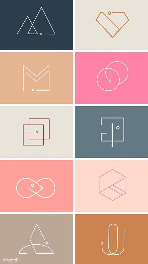 Download free vector of Colorful minimal design logo collection vectors