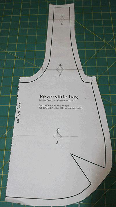 reversible bag tutorial pattern – My CMS Denim Bag Patterns, Hobo Bag Patterns, Sewing Patterns Free, Tote Pattern, Wallet Pattern, Handbag Patterns, Pattern Fabric, Loom Patterns, White Patterns