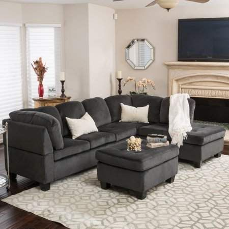 Home Fabric Sectional Sofas Sectional Sofa Sofa Set