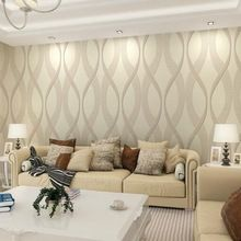 Moderno geometrico abstract stripe carta da parati 3d non tessuto ...