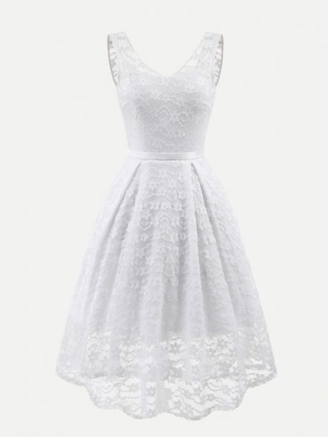 b40238f512a3 Vinfemass Sleeveless V-neck Backless Long Asymmetric Party Skater Dress # vinfemass #ball #party #dresses #lace #dress #prom #gown #women #vintage #  ...