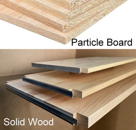 See The Difference With Our Toxic Free Solid Wood Shelves Absolutely No Particle Board Melamine Or Mdf With Formaldeh Particle Board Solid Wood Shelves Wood