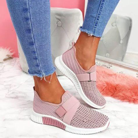 US$ 35.99 - Mesh Flat Heel Sneakers - www.fashionvoly.com