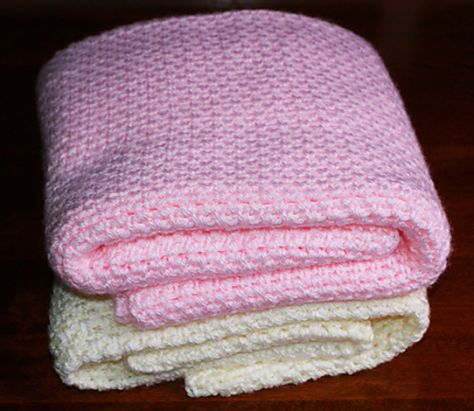 """Pinner says:  Fast easy crochet blanket - nice stitch.   This is a beginner-friendly crochet pattern that's easy enough for anyone to make. Despite the skill-level rating of """"beginner,"""" I'm hoping that this pattern will appeal to crocheters of varying skill levels; if you ever need to whip up a new blanket in a hurry, this is a great pattern to have in your stash."""