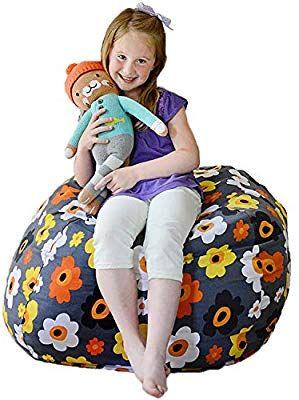 Amazing Amazon Com Creative Qt Stuffed Animal Storage Bean Bag Squirreltailoven Fun Painted Chair Ideas Images Squirreltailovenorg
