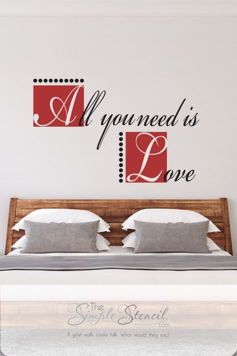 130 Master Bedroom Decor Ideas In 2021 Vinyl Wall Lettering Letter Wall Master Bedrooms Decor