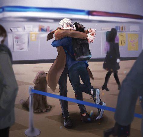 Viktor Nikiforov x Yuuri Katsuki / Viktuuri / Yuri on Ice / YOI Love On Ice, Yuri!!! On Ice, Katsuki Yuri, Yuuri Katsuki, Anime Ai, Anime Manga, Yuri X Victor, Ai No Kusabi, Otaku