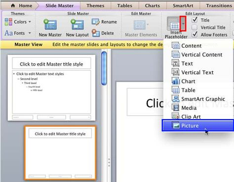 Learn how to format a Picture placeholder in #PowerPoint 2011 for