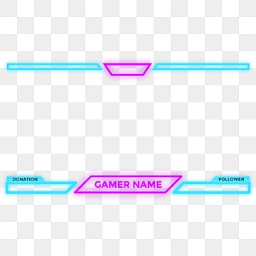 Twitch Or Ygamer Overlay Face Cam With Glowing Neon Effect And Futuristic Cyberpunk Colors Game Stream Live Png And Vector With Transparent Background For Fr Neon Backgrounds Overlays Transparent Overlays