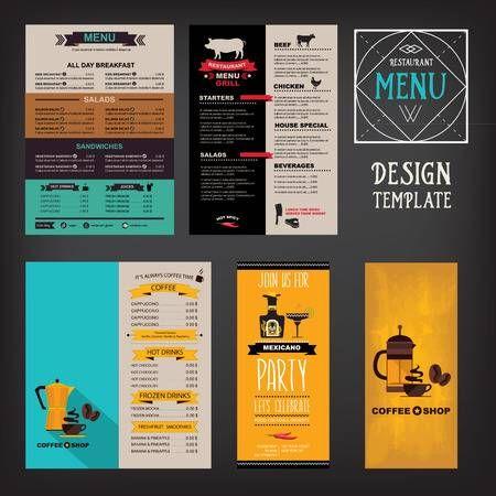 Restaurant Cafe Menu Vorlage Design Essen Flyer Menu Vorlage Food Design Flyer