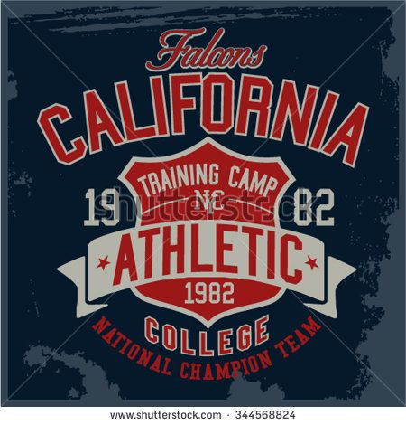 19067741 Varsity - College vector, Vector Graphics and typography t-shirt design for  apparel - stock vector | COLLEGIATE | Shirt print design, Shirt designs,  College ...