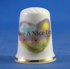 Easter Bunny Porcelain China Collectable Thimble Free Gift Box