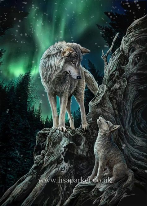 wolf artwork by Lisa Parker available as merchandise worldwide. #lisaparkermagicalmerch #lisaparker #wolves